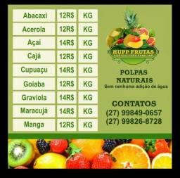 Polpas de fruta artesanal, suco natural a