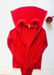 Título do anúncio: Jaqueta Blusão Inverno Feminino Zíper e gola alta Lindo vermelho