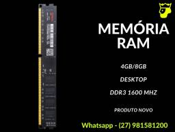 Memória Ram DDR3 4gb/8gb Desktop 1600mhz (Com Garantia)