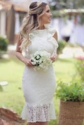 Vestido Noiva Renda Curto Civil Cartório Casamento Pre Wedding