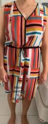 Vestido colorido da Maria Valentina tamanho G