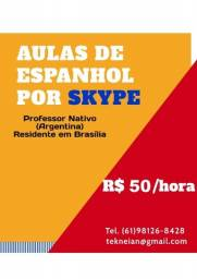 Aulas de Espanhol por Skype R$50/hora (Professor Nativo)