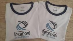 Uniformes colégio Ipiranga, tamanho M. (2 peças)