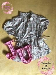 Título do anúncio: Blusa de seda com bordados