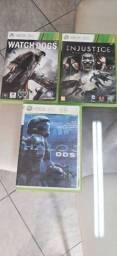 3 jogo e 1 controle original xbox360