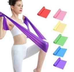 Kit com 4 Faixas Elásticas Thera Band Fisioterapia Academia  Exercícios 1,5 m