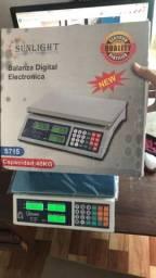 Balança Eletrônica Digital 40kg Alta Precisão/bateria nova lacrado $250