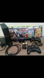 Xbox 360 c/ Kinect e Jogos