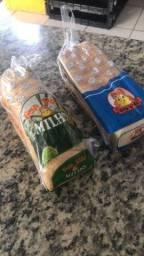 Pão de forma tradicional e milho