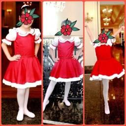 Lindo vestido de luxo Vermelho - 4 a 6 anos - usado 1 vez