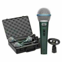 Kit Microfone Profissional Mxt Beta 58 + maleta (Novo, aceito cartão)