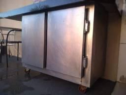 Balcão Industrial Refrigerado Em Inox Escovado 1 Metro