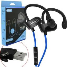Fone De Ouvido Bluetooth 4.2 Esportivo Hi-fi Knup Kp-442