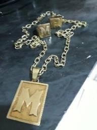 09389e08179 Vendo esse cordão de prata banhado a ouro vai com 2 anel de prata tbm  banhado