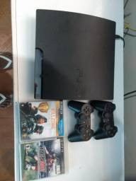 Vende-se PS3 Slim usado Travado