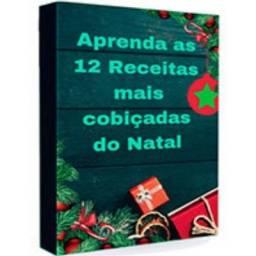 Livro Com 12 Receitas de Natal Novo