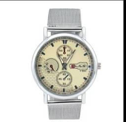 Relógio feminino de aço
