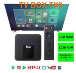 Tv Box Tx9 3GB Ram 32GB Rom 4K Hdmi Espelha Android TV Netflix Youtube