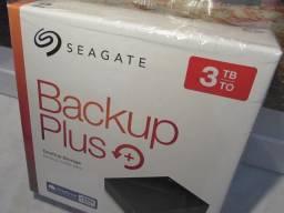 HD Seagate Externo 3TB, USB 3.0 Pode usar no PC, Xbox One e PlayStation 4