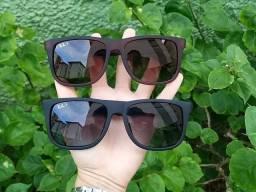 Óculos Justin Preto ou Marrom Promoção RayBan