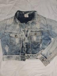 Jaqueta Jeans tipo bore