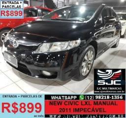 New Civic 2011 Manual Parcelas de 899 reais ao mês - 2011