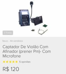 Captador De Violão Com Afinador (Prener - PM) - Com Microfone