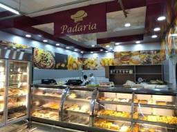 Balcão sob medida pra padaria * vitrine refrigerada sob medida