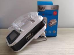Carregador Universal de Bateria de Celular - Com Led