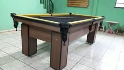 Mesa Charme Redinha | Mesa Imbuia | Tecido Preto | Borda Amarela |NNPQ1300