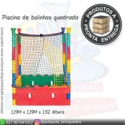 Venda - Piscina de bolinhas Quadrada + Ecorregadores - A pronta entrega