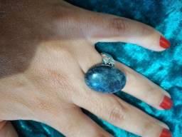 Anel Prata 925 Lápis Lazuli