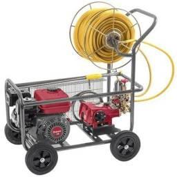 Pulverizador Estacionário 30-45L/min com Motor e Carrinho de Transporte<br><br>