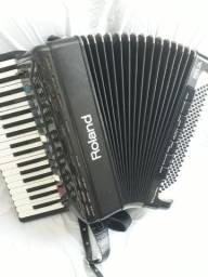 Acordeon eletrônico Roland FR-3s revisado 120 baixos