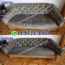 Limpeza Higienização de sofá / Reparo em sofás descosturados com furo