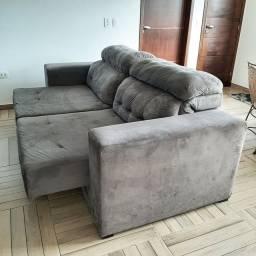 Excelente sofa 3 lugares reclináveis e retráteis