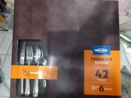 Título do anúncio: Faqueiro brinox 42 peças nunca usado $80,00