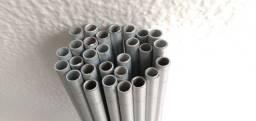 28 tubos de alumínio 1,10 de comprimento