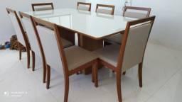 Título do anúncio: Mesa resistente de 8 lugares madeira e acabamento laka luxo