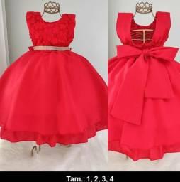 Vestido Infantil Red - Luxo