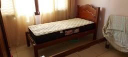 Cama de solteiro + colchão castor black & white semi-novo