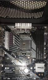 "B450M Pro4-f ASrock AM4 DDR4 ""nunca usado"""