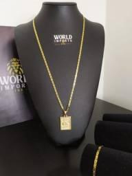 Título do anúncio: Cordões banhados a ouro 18k
