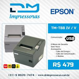 Impressora de Cupom Epson TM-T88 - Garantia de 06 meses