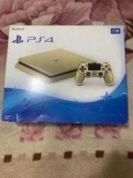 Título do anúncio: PS4 gold 1 tb edição limitada
