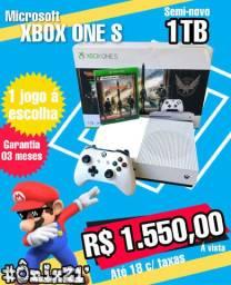 #Ônix21 - Microsoft XBOX ONE S 1TB + JOGO