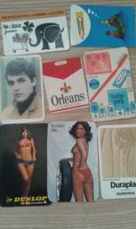 Coleção de Calendários de Bolso Antigos - Cerca de 800 peças