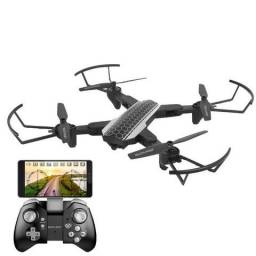 Drone Shark c/ Câmera HD, Wi-Fi e Controle c/ Suporte p/ Smartphone Preto ES177 Multilaser