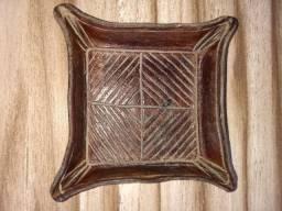 Porta copo de couro legitimo feito a mão artesanalmente