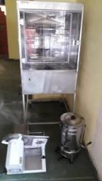 Máquina de assar frango, máquina de frios e cafeteria elétrica
